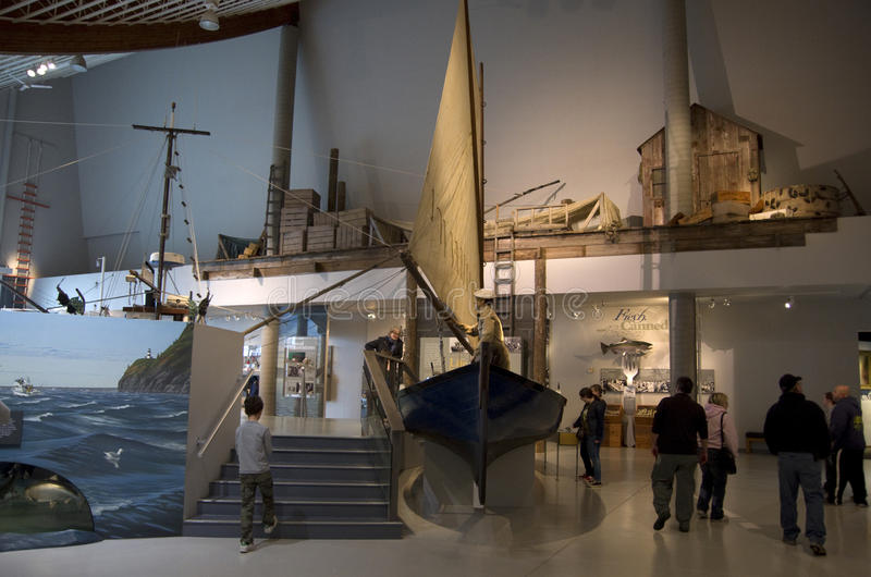 Columbia River Maritime Museum. The Columbia River Maritime Museum is a museum of maritime history located about ten miles from the mouth of the Columbia River stock photo