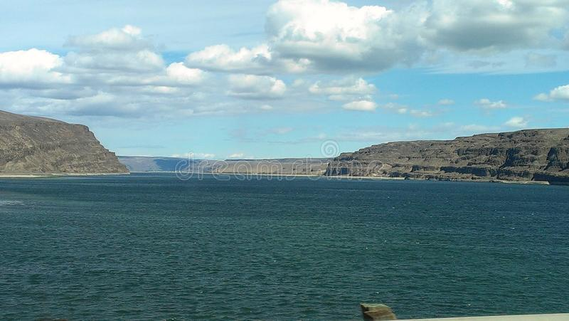 Columbia river. Picture in Washington state royalty free stock image