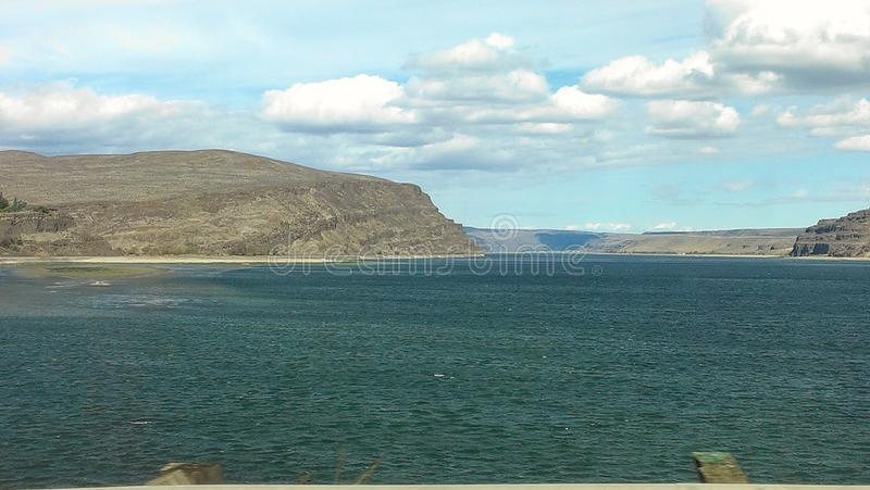 Columbia river. Picture in Washington state stock photo