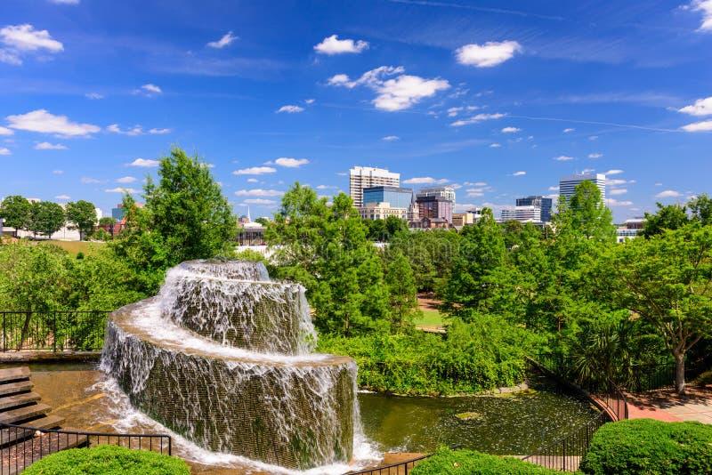 Columbia södra Carolina Fountain royaltyfri fotografi