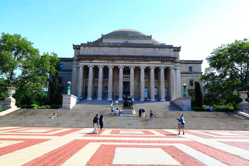 Columbia University Library Dome. Columbia University Campus at New York City, United States stock image