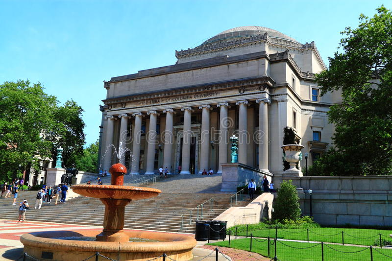 Columbia University Library Dome. Columbia University Old Library Dome at New York City, United States royalty free stock image