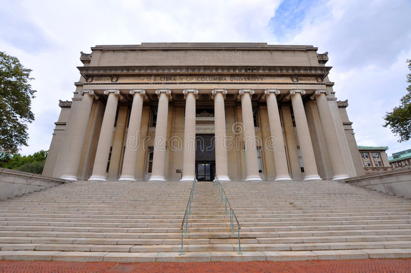 Columbia University Library in New York City stock photography