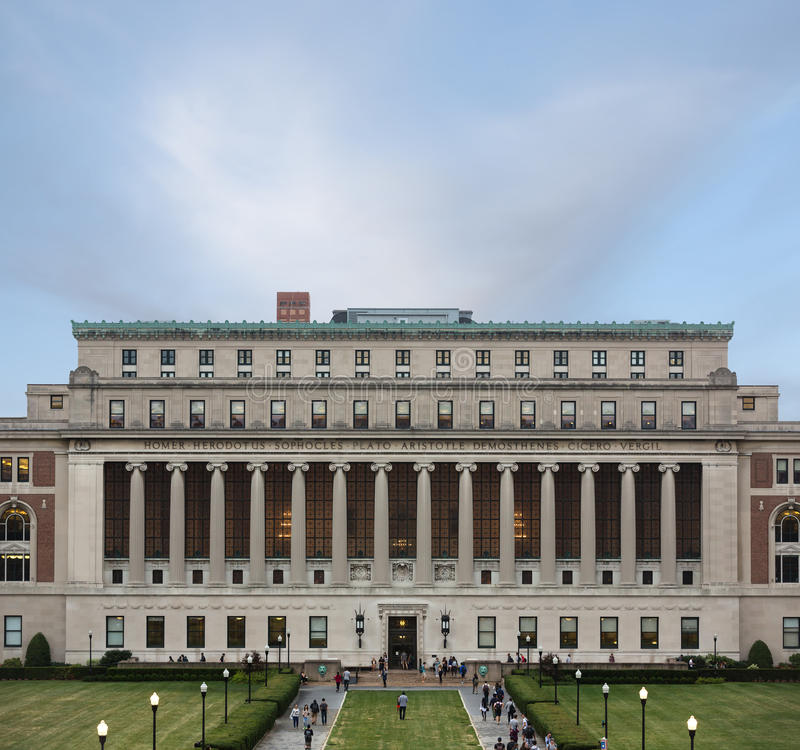 Columbia University, New York City, USA. NEW YORK, USA - Sep 26, 2015: New York City's Columbia University, an Ivy League school stock images