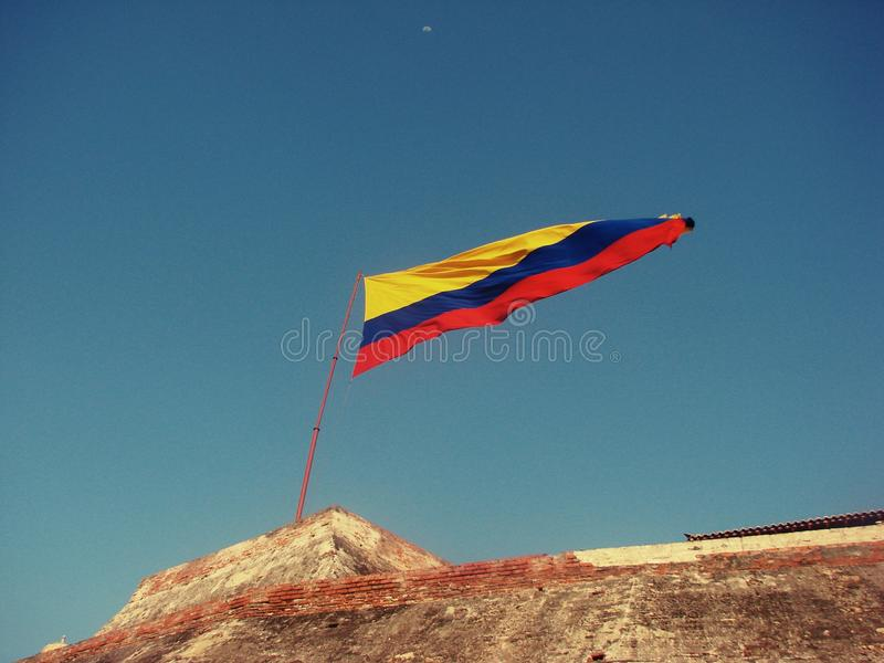 Columbiaanse vlag royalty-vrije stock foto