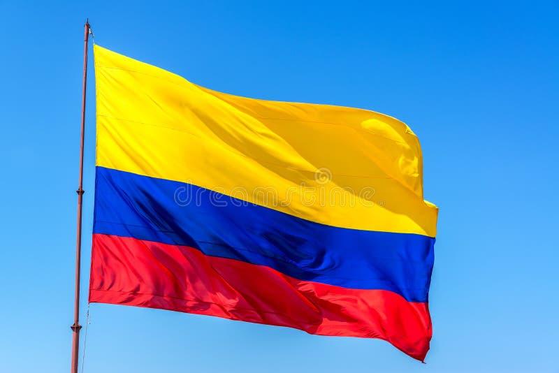 Columbiaanse Vlag royalty-vrije stock afbeeldingen