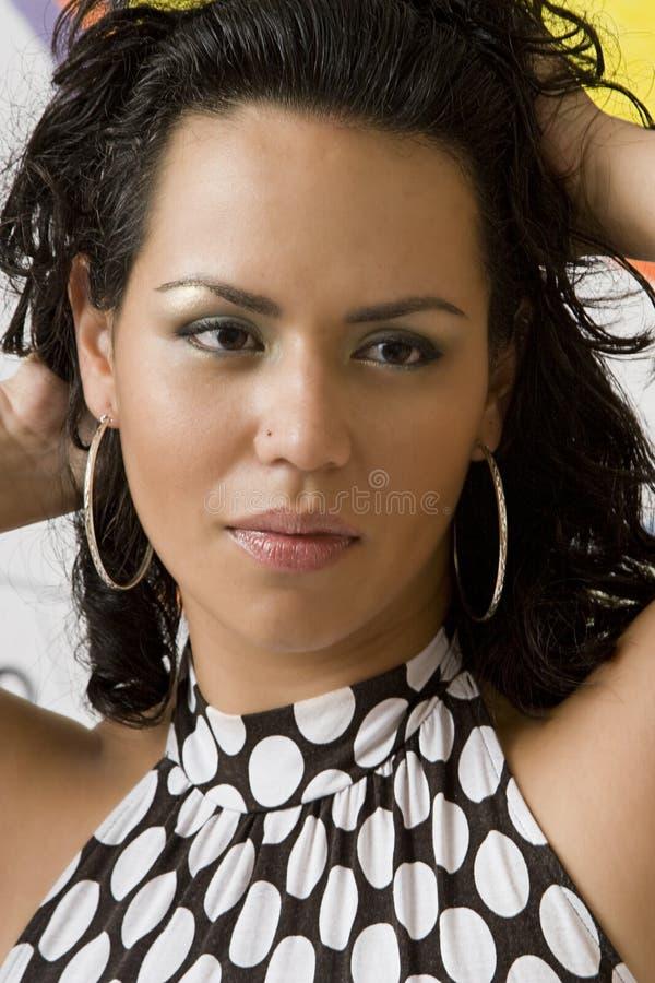 columbian sexig kvinna royaltyfri bild