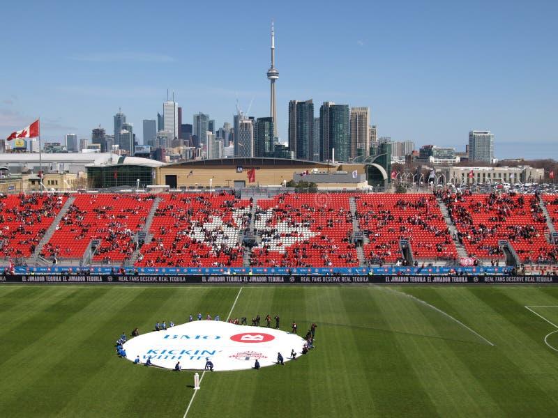 Columbus bij het pre-Spel van Toronto MLS royalty-vrije stock foto's