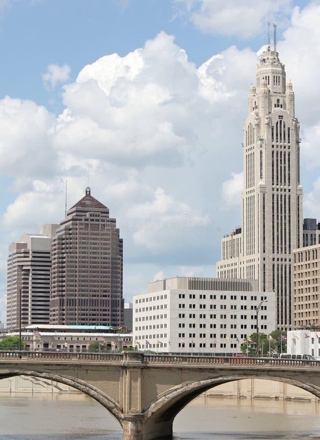 Columbus céntrica foto de archivo libre de regalías