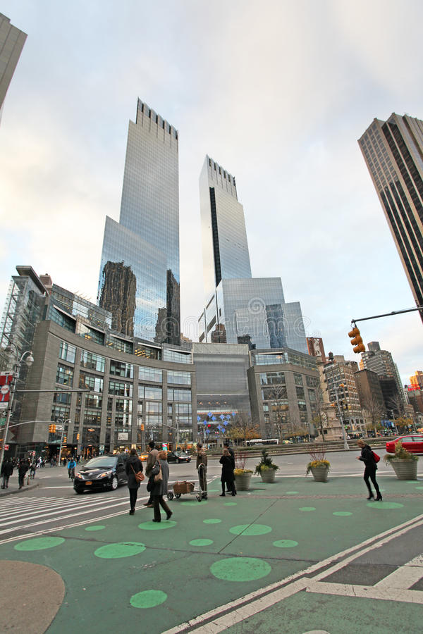Columbus Circle dans NYC, Etats-Unis images stock