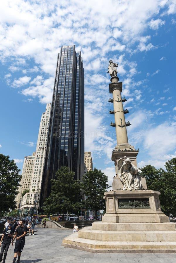 Columbus Circle em Manhattan, New York City, EUA fotografia de stock royalty free