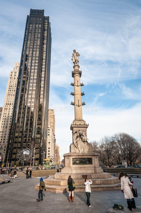 Columbus Circle i New York, Förenta staterna arkivbild