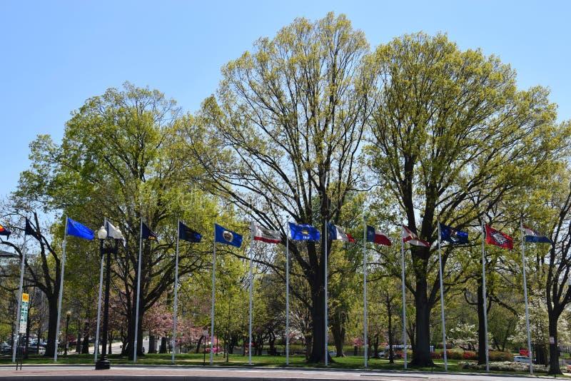 Columbus Circle im Washington DC lizenzfreie stockfotografie
