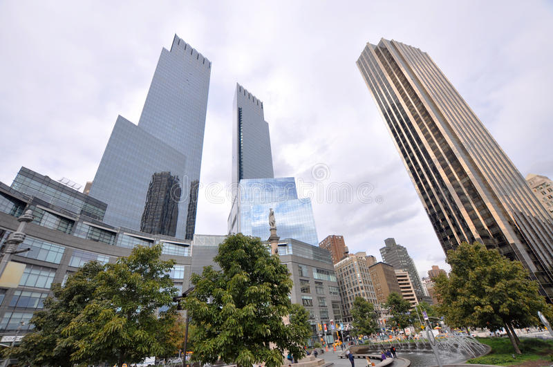 Columbus Circle at Manhattan New York City stock photo