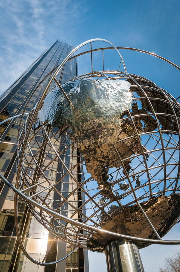 Columbus Circle in New York, United States. Columbus Circle Square in New York City, United States of America stock photography