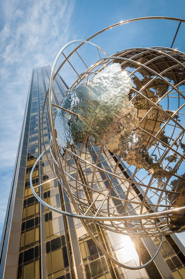 Columbus Circle in New York, Verenigde Staten stock foto's