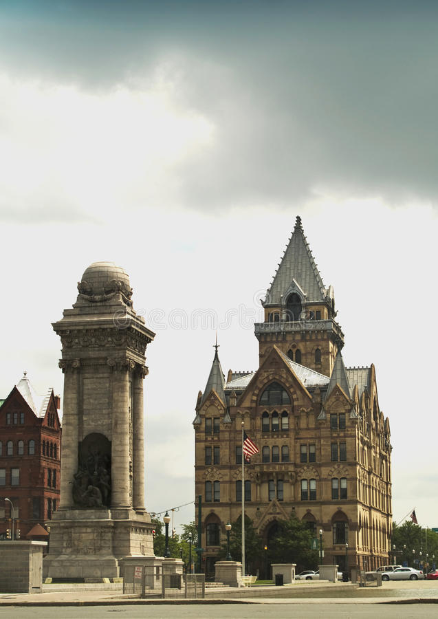 Download Columbus Circle In Syracuse,new York Stock Photo - Image: 15322764