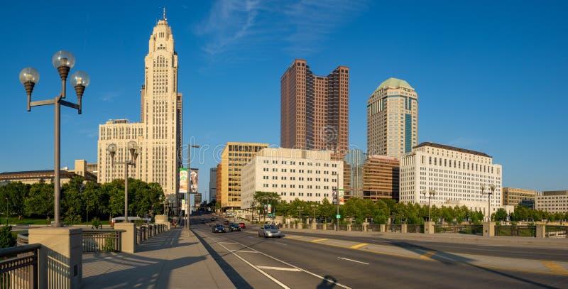Columbus City Downtown royalty free stock photos