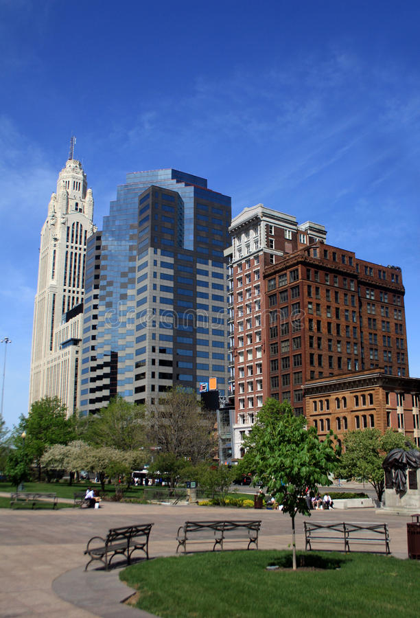 Download Columbus city skyline stock image. Image of greenery - 13945547