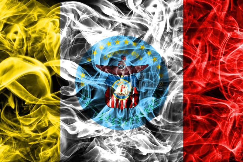 Columbus city smoke flag, Ohio State, United States Of America stock illustration