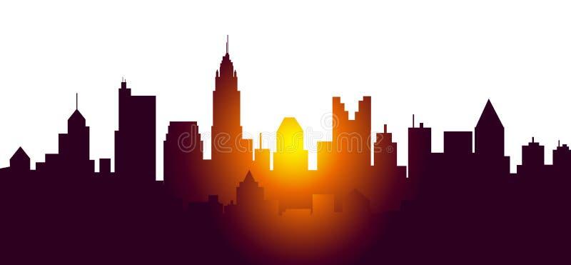 Columbus City Sunrise - vecteur illustration libre de droits