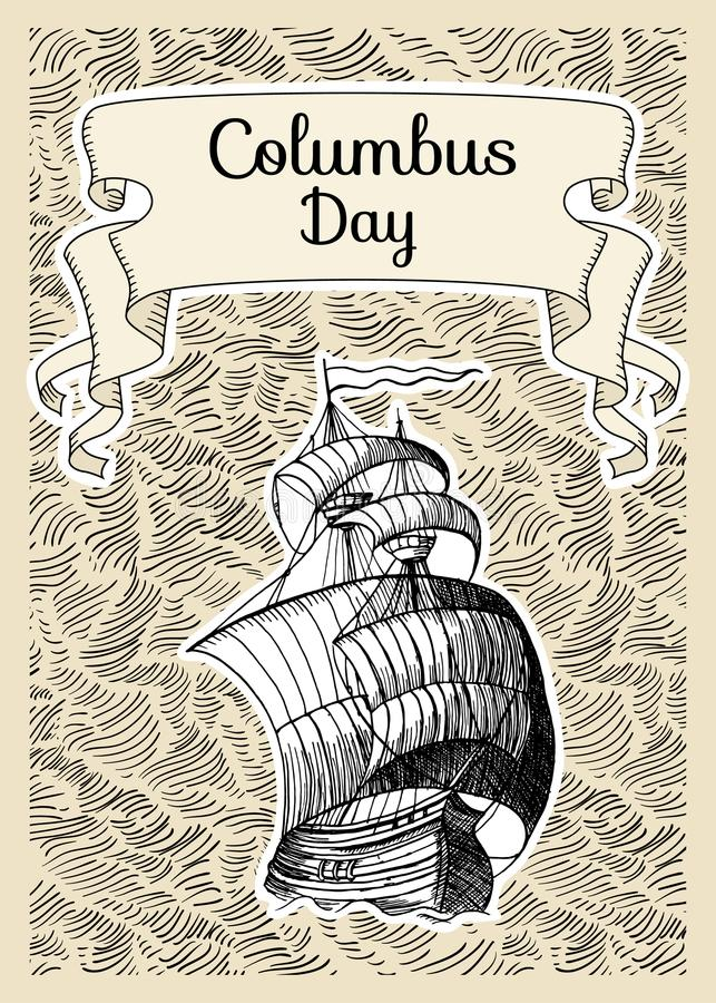 Columbus Day ilustração royalty free