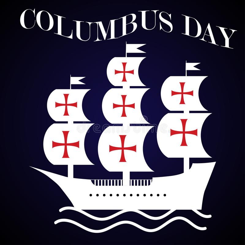 Columbus Day illustration libre de droits