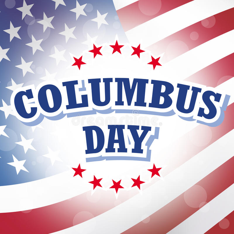 Columbus Day vector illustratie