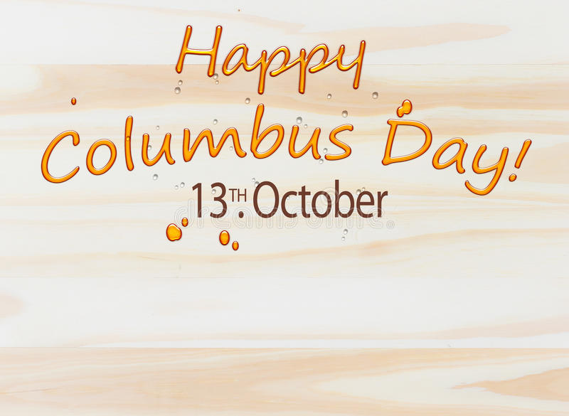 Columbus Day Background en la madera ilustración del vector