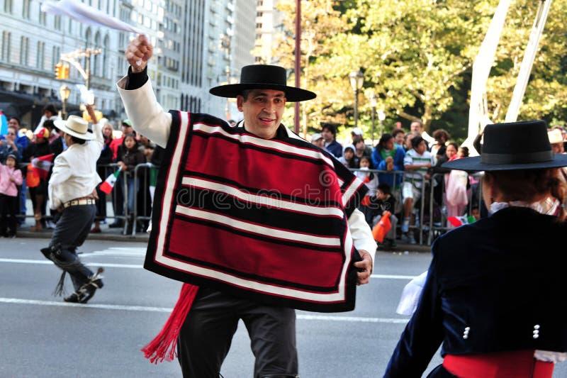 Columbus Day Parade in de Stad van New York stock foto