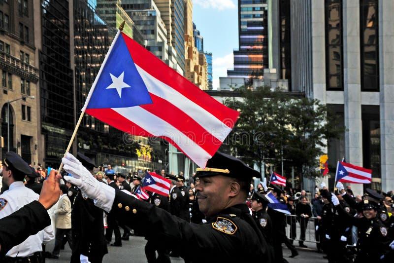 Columbus Day Parade em New York City fotografia de stock