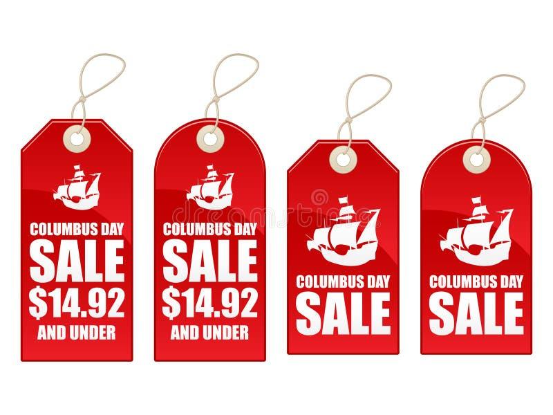 columbus dzień sprzedaż royalty ilustracja