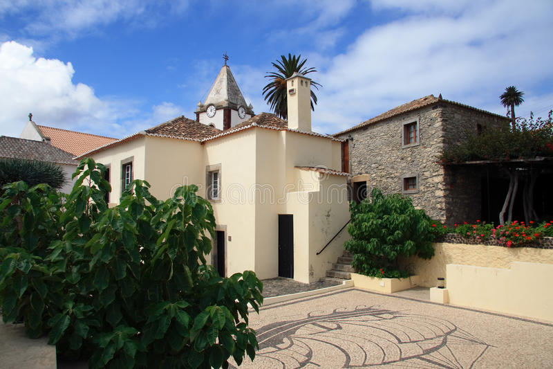 Columbus Haus und Hof - Porto Santo lizenzfreie stockfotografie