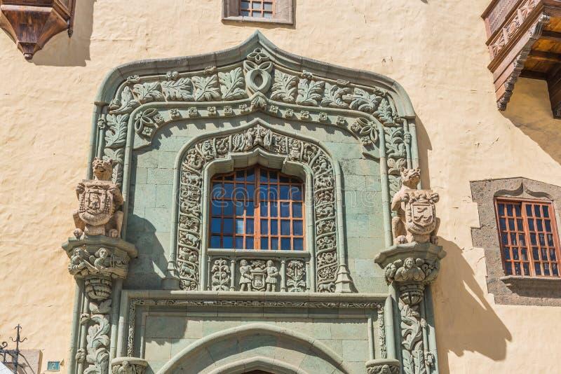 Columbus House em Las Palmas de Gran Canaria, Espanha fotos de stock royalty free