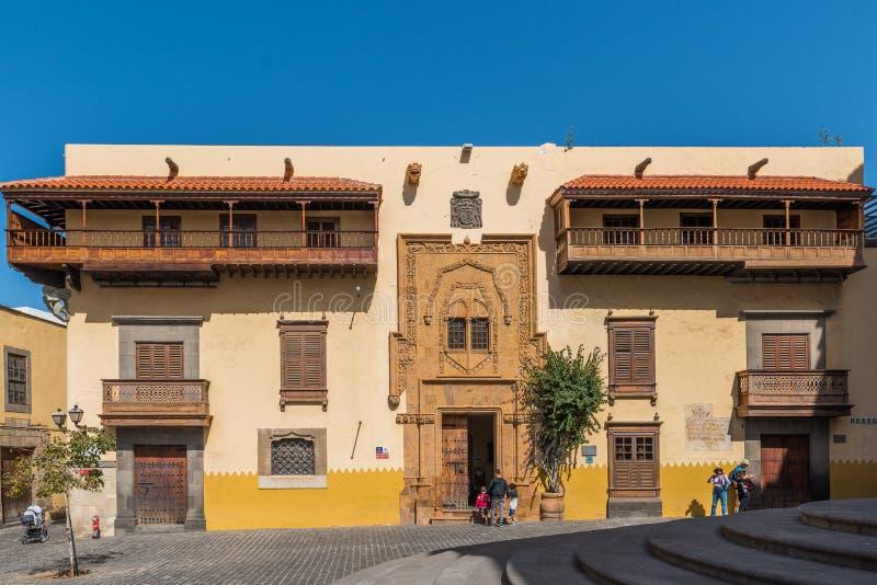 Columbus House em Las Palmas de Gran Canaria, Espanha fotografia de stock
