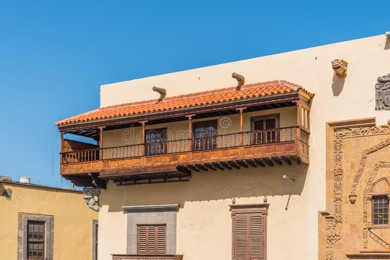 Columbus House em Las Palmas de Gran Canaria, Espanha imagens de stock