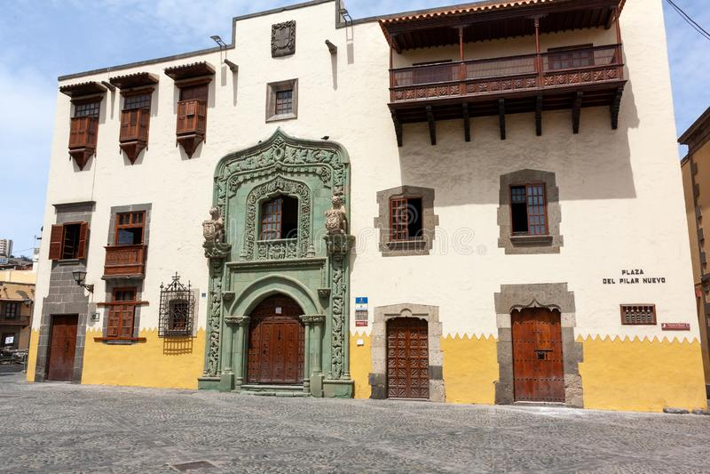 Columbus house in Las Palmas de Gran Canaria royalty free stock image