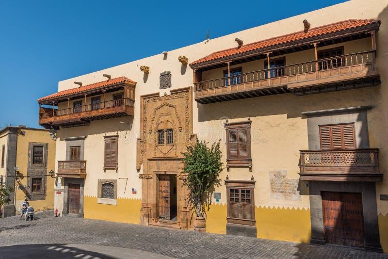 Columbus House in Las Palmas de Gran Canaria, Spagna fotografia stock libera da diritti