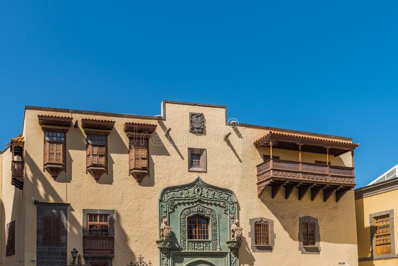 Columbus House in Las Palmas de Gran Canaria, Spain stock images