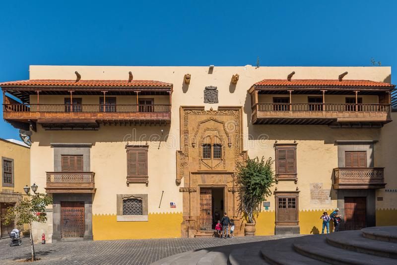 Columbus House in Las Palmas de Gran Canaria, Spanien stockfotografie