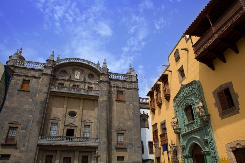 Columbus hus Las Palmas Gran Canaria royaltyfri fotografi