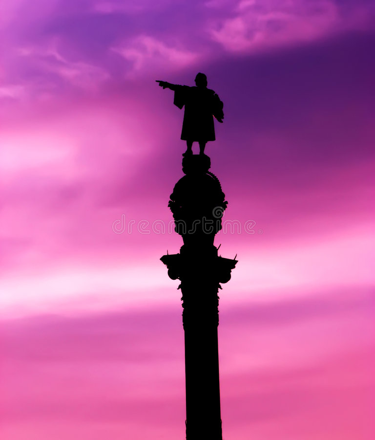 Download Columbus monument stock image. Image of clouds, city, discoverer - 3064507