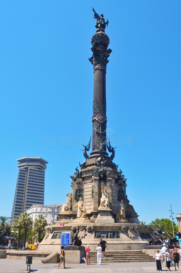 Download Columbus Monument In Barcelona, Spain Editorial Stock Image - Image: 21868759
