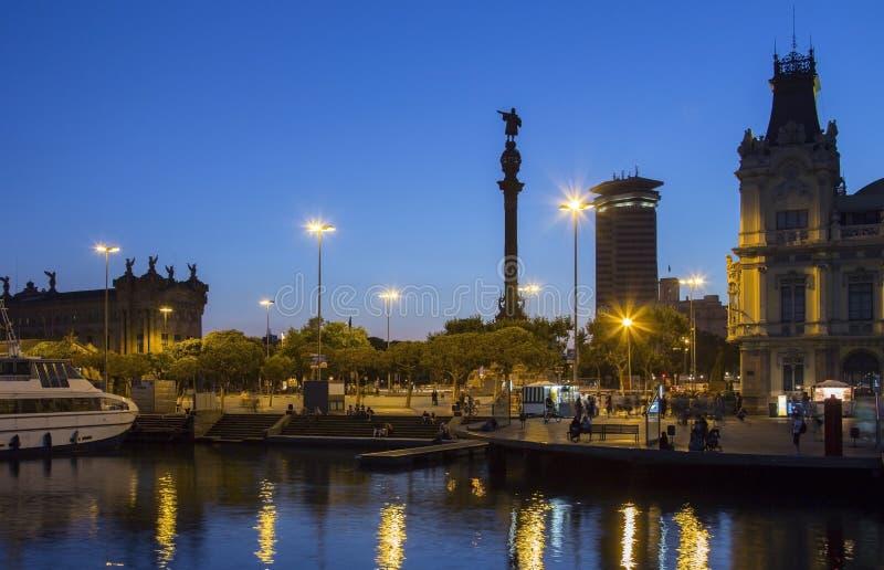 Columbus Monument - Barcelona - Spain royalty free stock image