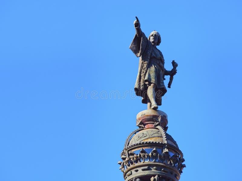 Columbus Monument em Barcelona foto de stock