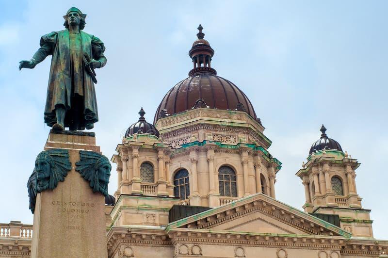 Columbus och domstolsbyggnad royaltyfri bild