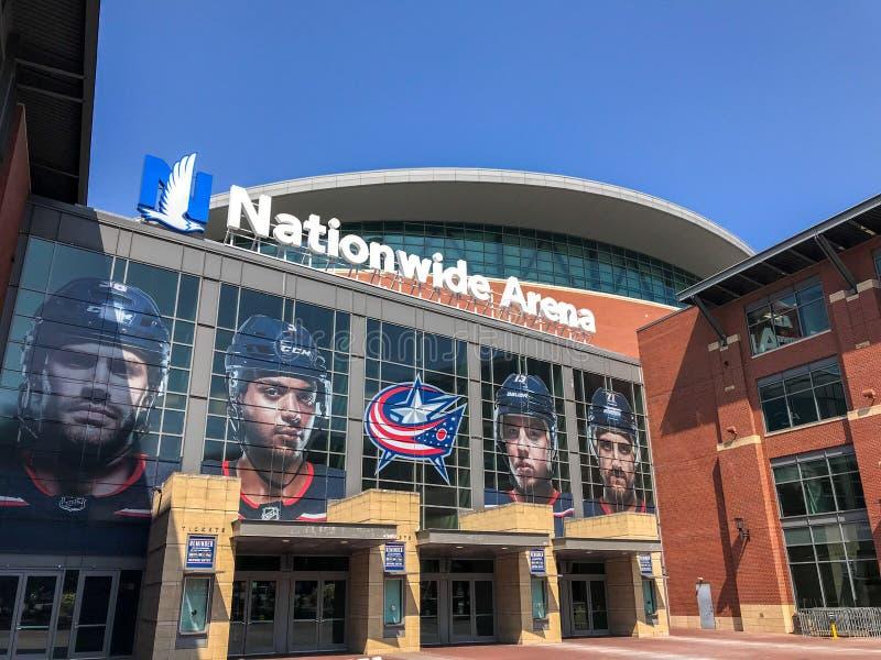 Columbus, Ohio - 2 agosto 2019: Arena nazionale immagine stock libera da diritti