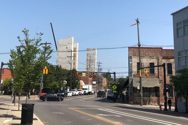 Columbus Ohio - Augusti 2, 2019: Norr marknad i i stadens centrum Columbus arkivbilder