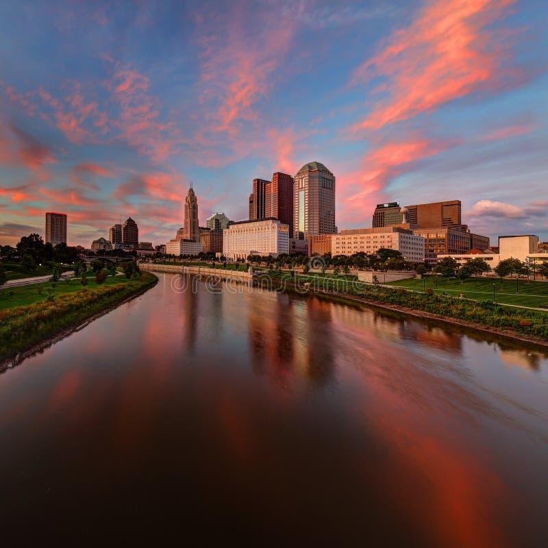 Columbus, Ohio cityscape stock images