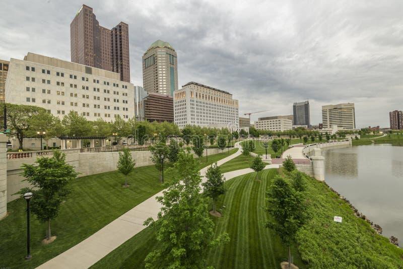 Columbus Ohio horisont arkivfoto